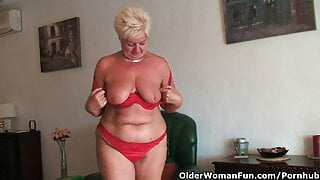 Chunky Granny with Saggy Large Boobs and Corpulent Butt