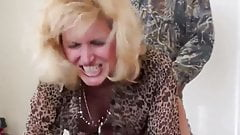 Blonde Wife Gets Bent Over