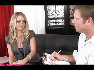 Office girl getting fucked Blond office girl comes in for a porn job and gets fucked