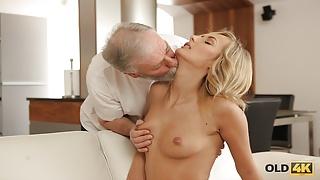 VIP4K. Mesmerizing petite model Jenny Smart fucked by old