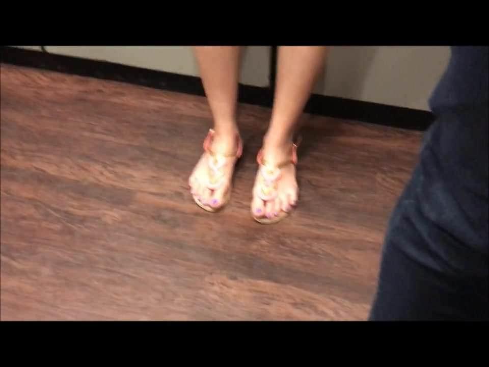 spy video of vietnamese feet in elevator