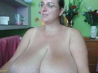 Masturbating a huge clit Huge tits huge clit webcam