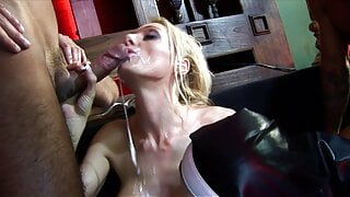 Perfect bodied slut with huge bombs bends over to take it in