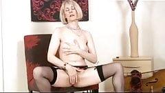 Mature milf in stockings