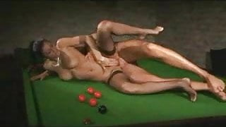two french horny babes fucking very hardly in snokeer board
