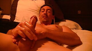 Edging My Oiled Up Dick, Then Using A Butt Plug At The End