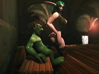 Naked night elf - Whorecraft night elf reverse riding goblins cock scene