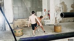 Young gay Casper Ellis in bondage rimjob and BDSM anal play