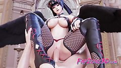 Nyotengu from Game Dead or Alive Gets Fuck