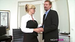 BLOND MILF BIG BOOBS MEGA OFFICE FUCK
