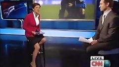 Becky Anderson von CNN, geile Beine, Titten Nippel