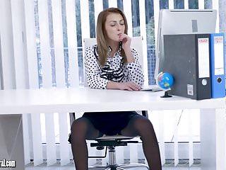 Slut pics skirts - Office slut teases up skirt nylons then panties off to wank