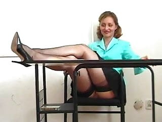 Masturbation by remote vibrator in class - Kirsty blue in class