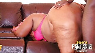 African bbw mature fucked by her young client