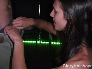 Adult rated room Brunette gangbang in adult theater room
