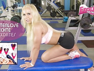 Exposed muscle anal fissure - German blond ass to mouth in solarium - muscle anal gym teen