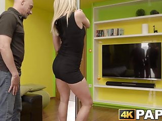 Daughter seduces father blow job - Tempting young babe rammed after seducing boyfriends father