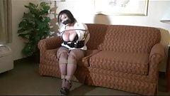 Chubby girl in bondage