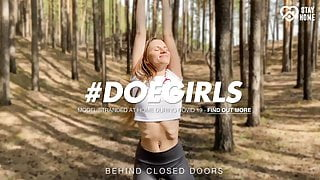 DOEGIRLS - Dildo Play Into The Woods With Sexy Stella Flex