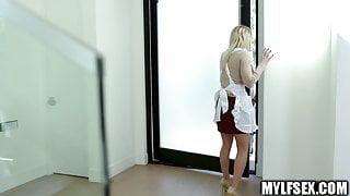 Horny Blonde MILF Fucks Her StepDaughters Ex-Boyfriend