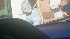 Hot young teenage girl outside of Wendy's