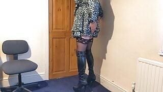 Short Dress & Long Boots
