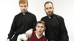 Young Twink Catholic Boy Fucked By Two Priests During Check