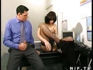 Secretary come across desk sex video