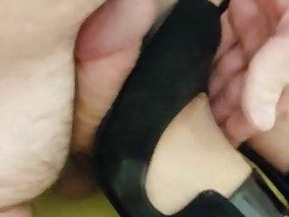 Average chinese breast size - Carvela black strap heels - size 41