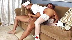 horny nurse heals the patients cock