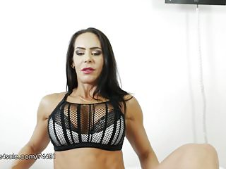 Elise erotic videos - Angelina elise - workout footjob session