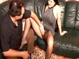 Pantyhose making a comeback Pantyhosed milf makes guy hard