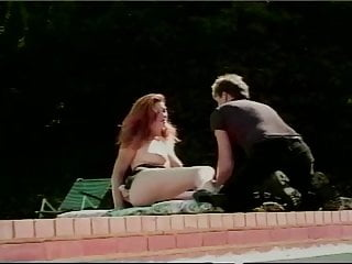Finger fucked at the pool Redhead fucked by pool