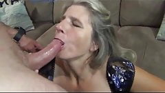 Cum eating milf