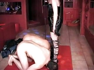 Shaved pussy female slave - Female slave made to tease subs