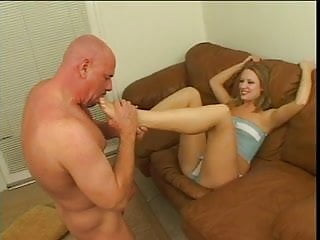 Tina krause fetish Tina fine deep throats huge white cock then jizz on her toes