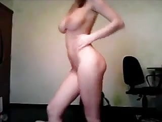 Perfect Huge Tits Teen Masterbates with a Dildo
