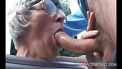 Hot 60 old year woman enjoy in young dick
