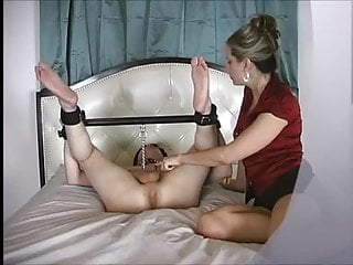 Naked slave boy Mistress madeline milks slave boy