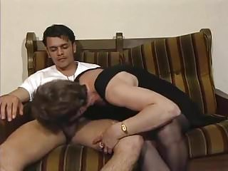 Senior sexy ladies Lucky boy bangs a senior lady