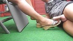 Footjob Cumshot Stockings X11
