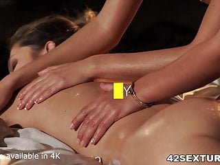 Three lesbians double dildo anal sex Three angels pleasing an asshole and cunt dp style