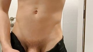 young student shows her huge uncut dick