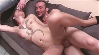 Kinky wife is getting ass fucked in front of her husband