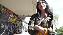 Public Agent Cash tempts busty American Amilia Onyx to fuck
