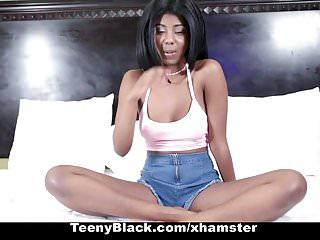 Ebony pounding pussy - Teenyblack - ebony teen with perky tits gets pussy pounded