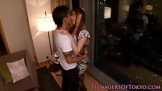 Japanese teen girlfriend facialized by bf