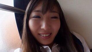 beautiful and sexy japanese schoolgirl POV creampie fucking