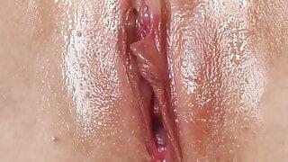 close up masturbating creamy pussy