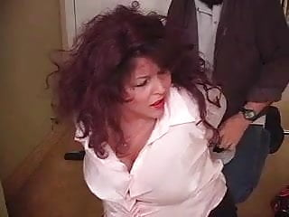 Elan breast pumpparts - Curvy elane taped up wrap gagged